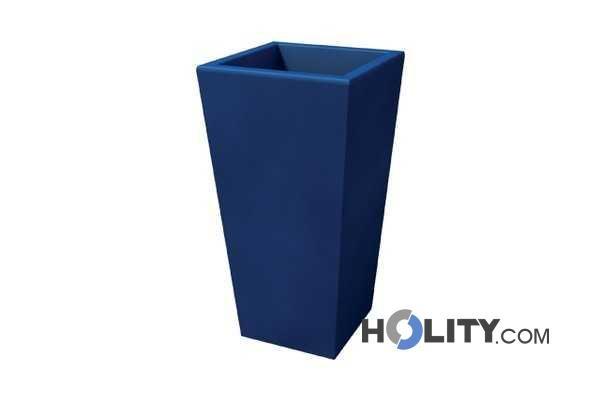 Vaso rettangolare in plastica con opzione luce h12703 for Vaso rettangolare