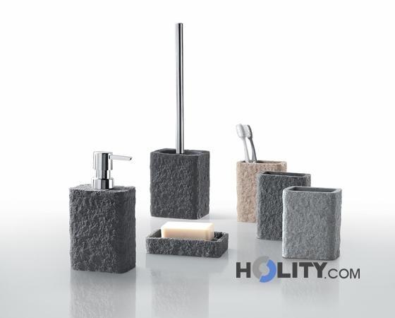 Accessori bagno in resina e sabbia h107133