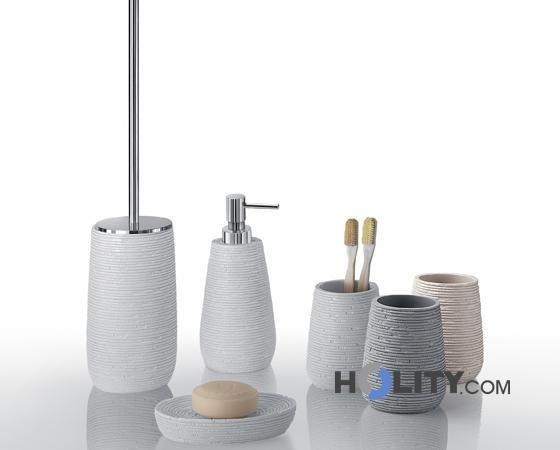 Accessori bagno in resina h107137 - Set arredo bagno ...
