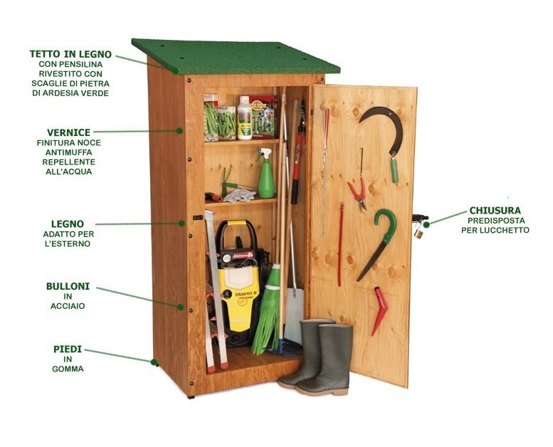 Casetta in legno da giardino h12622 for Il mobile da giardino