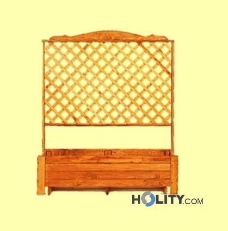 Cerchi fioriera con grigliato in legno h24807 for Fioriera con grigliato