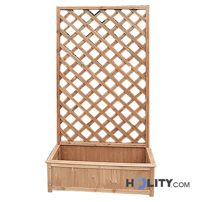 Grigliato con fioriera in legno h24046 for Fioriera con grigliato