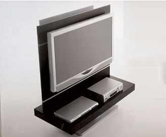 Mobile porta tv in legno e vetro con alloggiamenti per cd - Porta dvd in legno ...