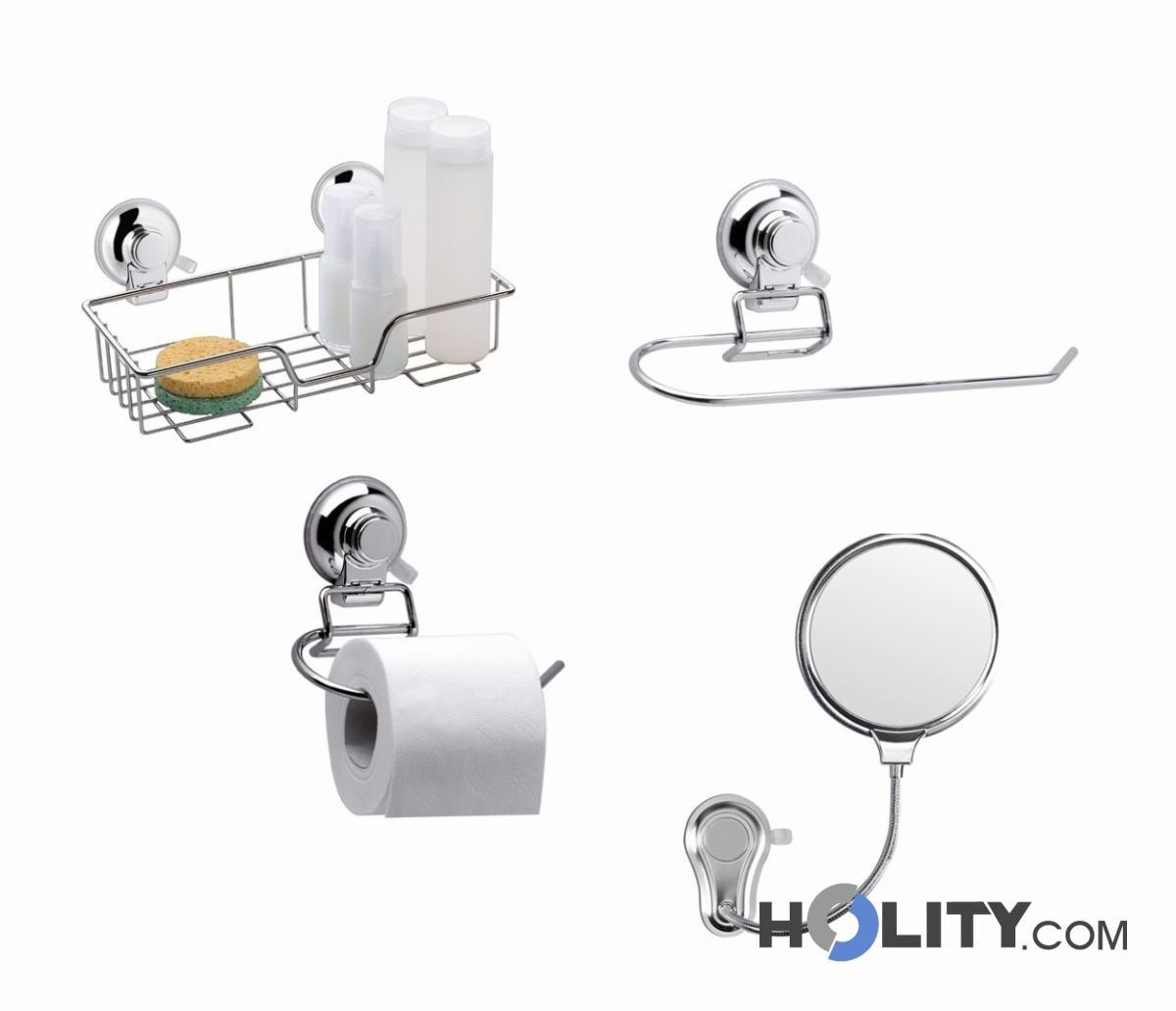 Cerchi accessori bagno in metallo h107142 - Accessori bagno portaoggetti ...