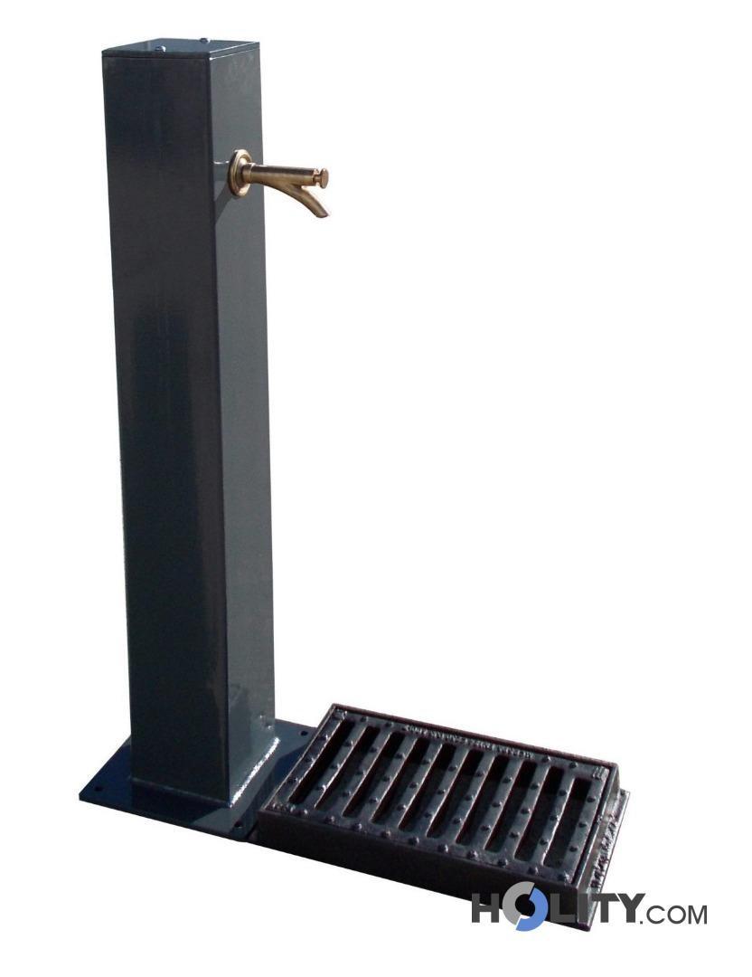Fontana in acciaio per arredo urbano h109123