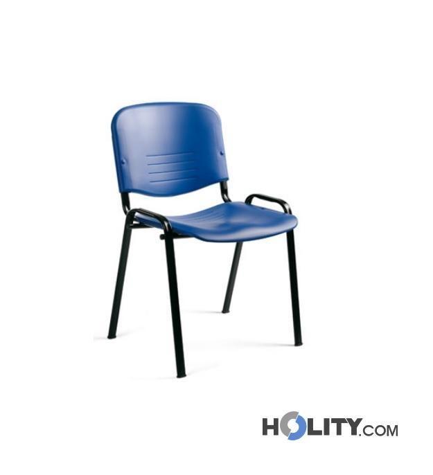 Sedute In Plastica Per Sedie.Sedia Per Conferenze Impilabile Con Seduta In Plastica H34409