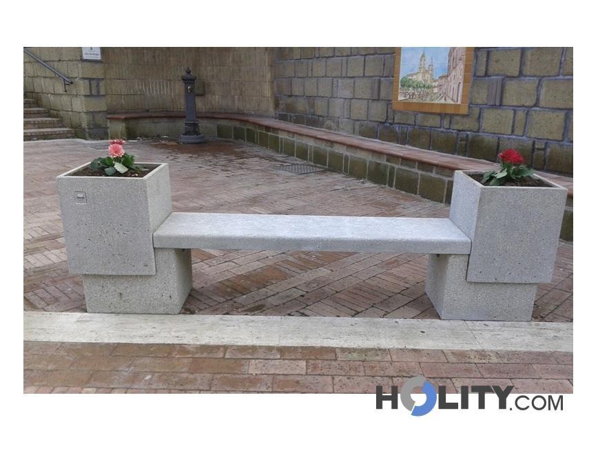 Panchina con fioriere per arredo urbano h45008 for Fioriere arredo urbano
