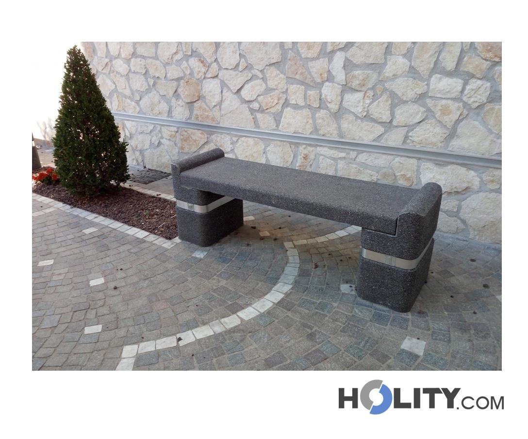 Panchine In Cemento Da Esterno.Panchina In Cemento Per Zone Pubbliche H45009