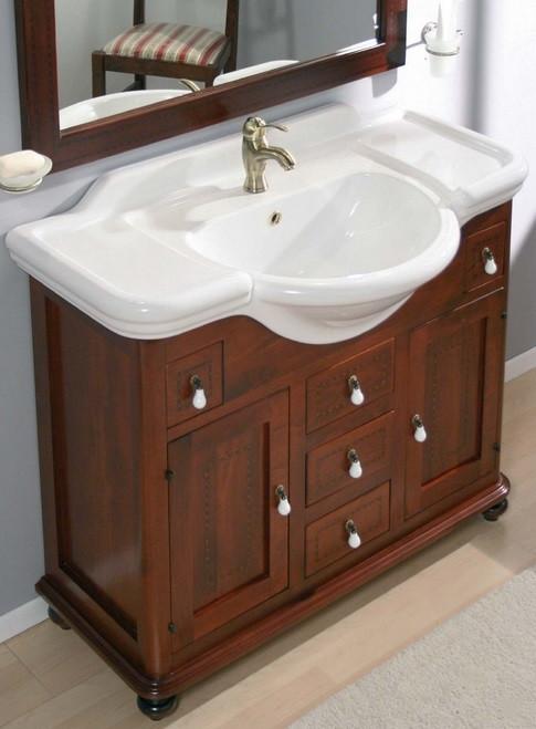 Cerchi mobile bagno con elemento decorativo h21007 - Mobili per bagno classici prezzi ...