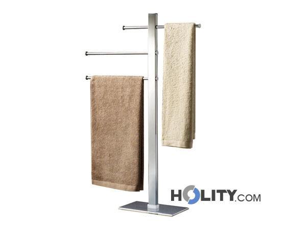 Piantana bagno con porta salviette scorrevoli h107124 - Piantana portasalviette bagno ...