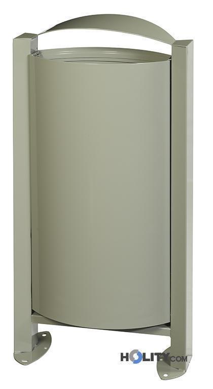 Porta rifiuti per esterno a pavimento capacit h8611 - Porta tocca pavimento ...