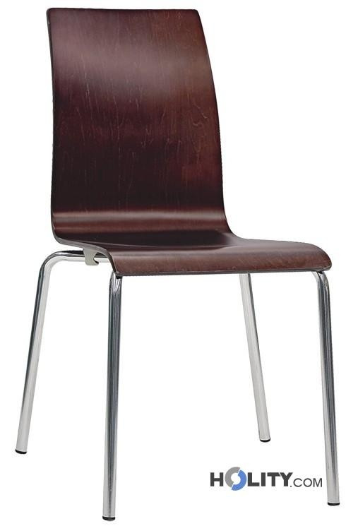 Cerchi sedia di design in legno h26302 - Sedia di design ...
