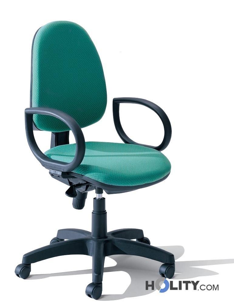 Cerchi sedia ufficio operativa su ruote h1829 for Sedia ufficio ruote
