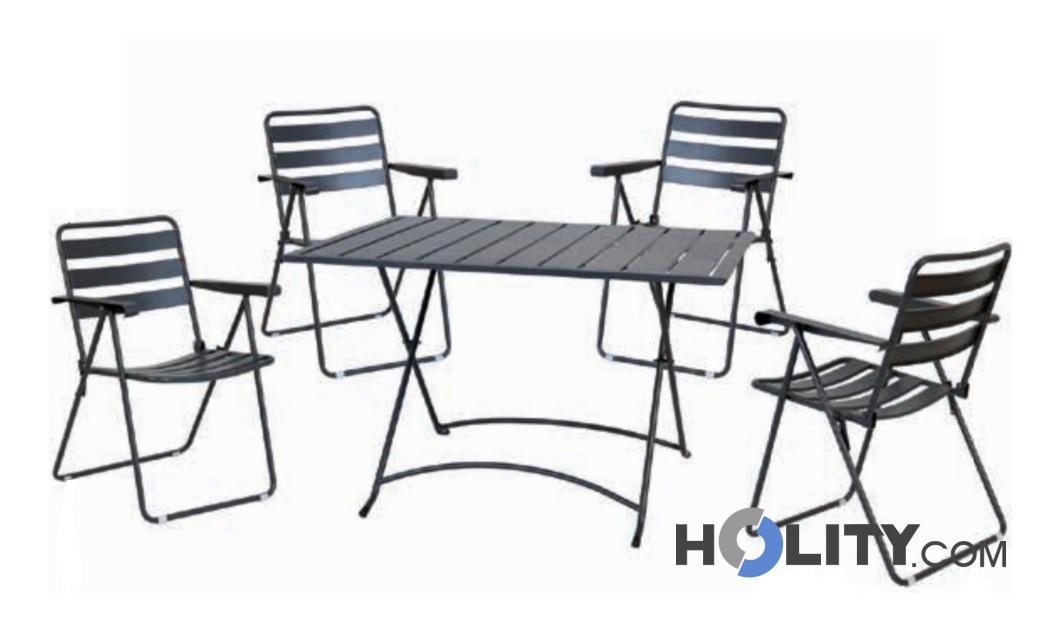 Set Tavolo E Sedie Da Giardino H24014