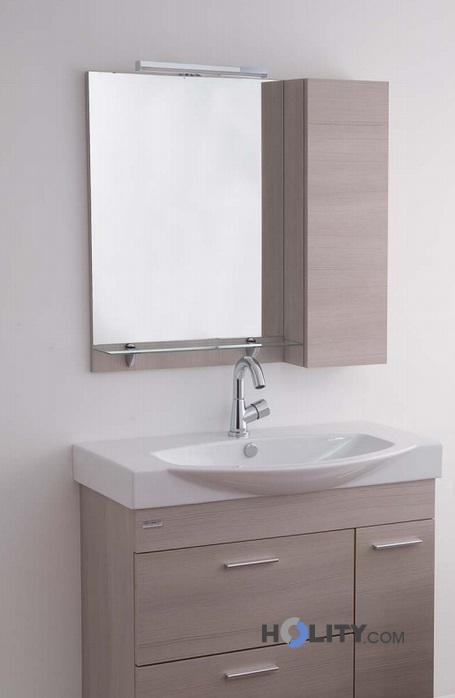Specchiera con mensola in vetro h21015 - Mensola vetro bagno ...