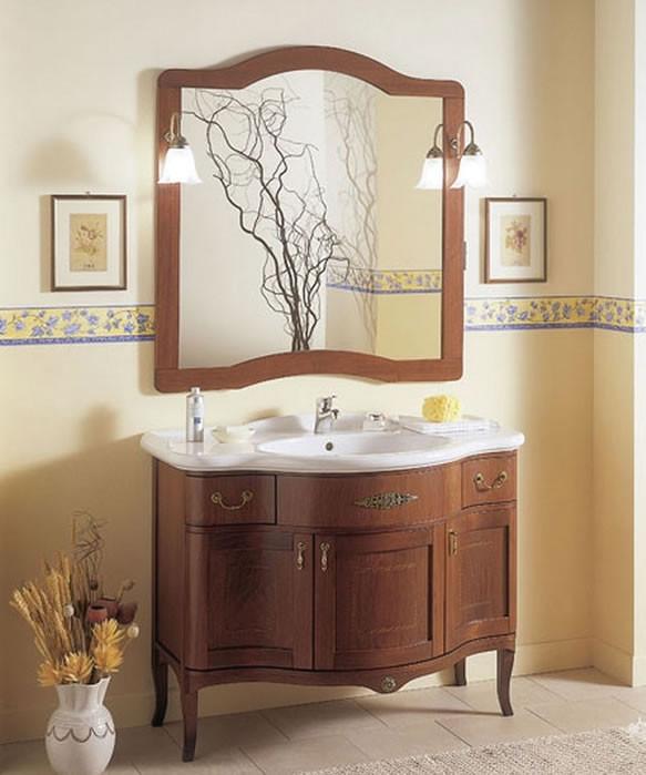 Mobile bagno classico in legno h11301 for Mobili bagni classici