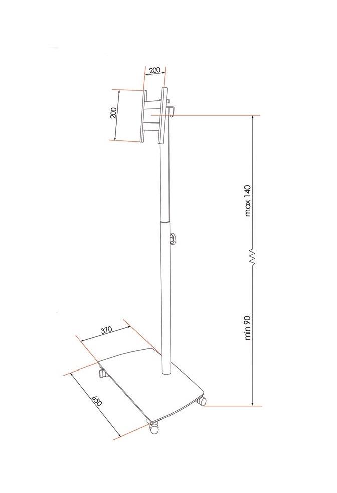 Piantana porta tv con altezza regolabile h12525 for Altezza finestre da terra