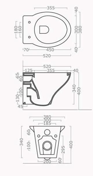 Sanitari bagno sospesi h11640