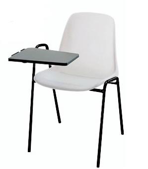 Sedia conferenza con braccioli e tavoletta h15947