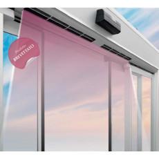 Porta automatica con barriera d'aria