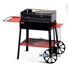Barbecue a carbonella con carrello su ruote h17014