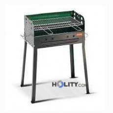 Barbecue a carbonella con cassetto raccogli cenere h17003