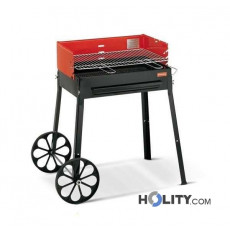 Barbecue a carbonella con ruote h17009