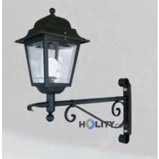 Lampada a parete con diffusore in policarbonato trasparente h16848