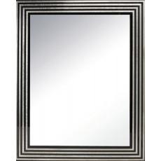 Specchio reversibile con cornice in legno laccata nera h3912