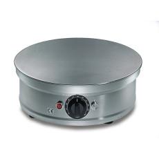 Crepiere elettrica liscia tonda in acciaio inox h19011