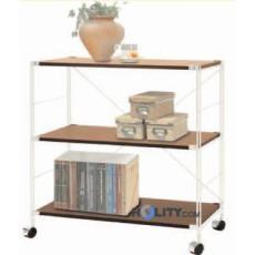 libreria-in-legno-e-acciaio-con-ruote-h12244