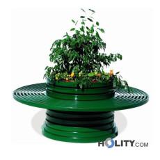 fioriera-con-panchina-circolare-in-metallo-h140161
