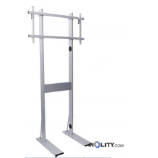 maxi-piantana-porta-tv-in-alluminio-regolabile-con-ruote-h12522