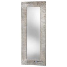 Specchiera di design con cornice in mdf e foglia argento h11990
