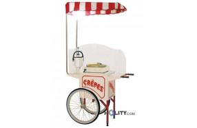 Carrettino per distribuzione crepes h2604