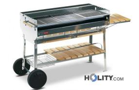Barbecue a carbonella professionale in acciaio inox h17020