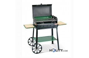 Barbecue a carbonella super accessoriato h17013