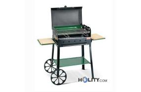 Barbecue a carbonella super accessoriato h17013