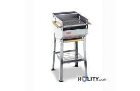 Barbecue a carbonelle interamente in acciaio inox h17018