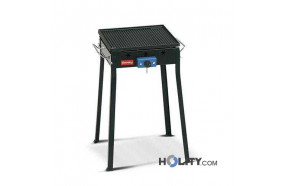 Barbecue a gas con piastra in ghisa h17025