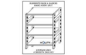 scaffale-in-acciaio-inox-4-ripiani-lisci-60x40xh180-cm-h11117
