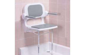 Sedile imbottito con schienale e braccioli h13421