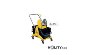 carrello-pulizia-2x25-lt-h2075