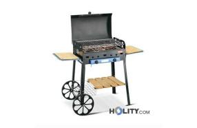 Barbecue a gas con struttura in lamiera di acciaio h17032