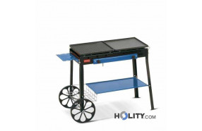 Barbecue a gas montato su carrello h17030