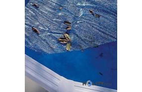 """Copertura galleggiante isotermica per piscine a forma di """"otto"""" 6,25x3,60 mt h17431"""