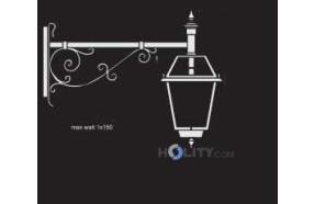 Lampada a parete con diffusore in vetro cattedrale h16837