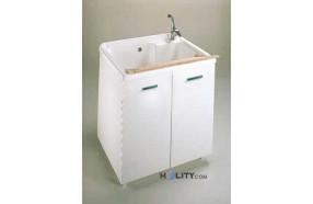 Lavatoio con vasca maxi in plastica e nobilitato h15606