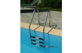 Scaletta in acciaio inox per piscine interrate h17454