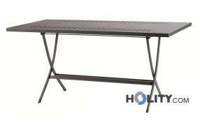 Tavolo pieghevole in acciaio h12321 finitura antracite
